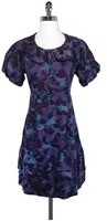 Marc by Marc Jacobs Abstract Print Cotton Dress - PURPLE - STYLE