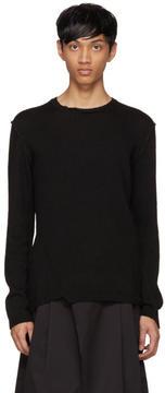 Isabel Benenato Black Contrast Sweater