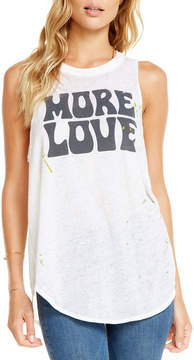 Chaser More Love Graphic Muscle Tee