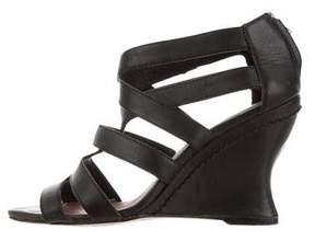 Elizabeth and James Leather Multistrap Wedges
