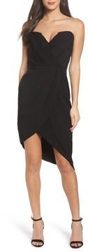 Adelyn Rae Women's Loren Strapless Asymmetric Dress