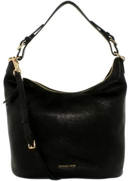 Michael Kors Women's Large Lupita Leather Hobo Bag Shoulder Tote - Black - BLACK - STYLE