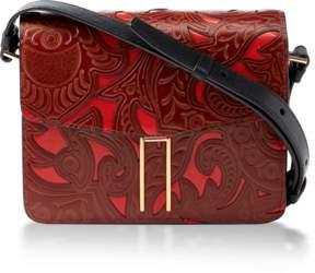 Hayward Tooled Leather Mini H Crossbody Bag