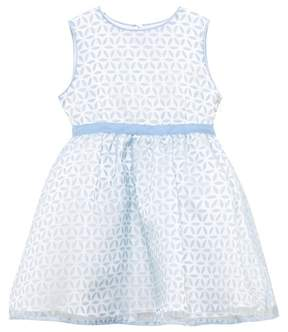 Rachel Riley Blue and Ivory Petal Overlay Dress