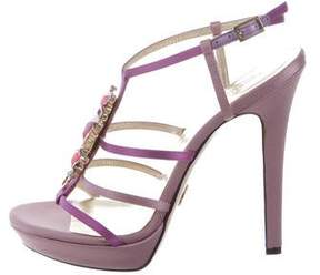 Versace Jewel-Embellished Cage Sandals w/ Tags
