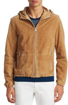 Michael Kors Suede Hooded Jacket