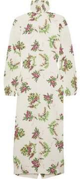 Emilia Wickstead Alison Floral-Print Crepe Turtleneck Dress