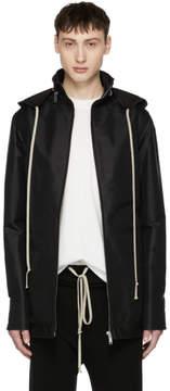 Rick Owens Black Dirt Windbreaker Jacket