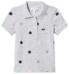Lacoste Grey Multi Spot Polo