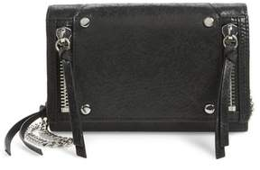 Botkier Logan Leather Crossbody Wallet - Black