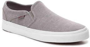Vans Women's Asher Chambray Slip-On Sneaker - Women's's