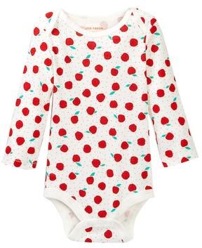 Joe Fresh Apple Print Bodysuit (Baby Girls 3-12M)