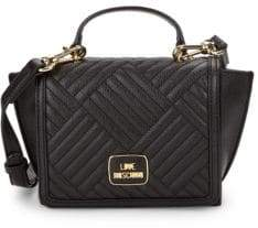 Love Moschino Channel Quilted Satchel