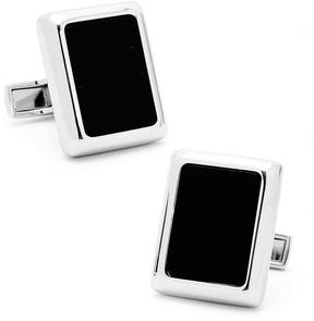 Ravi Ratan Silver and Onyx JFK Presidential Cufflinks