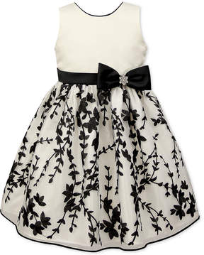 Jayne Copeland Little Girls Embroidered Satin Dress