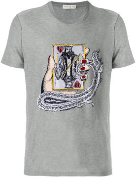 Etro embroidered fitted T-shirt