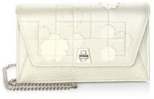 Akris Anouk Envelope Stucco Leather Clutch Bag