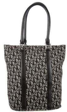Christian Dior Leather-Trimmed Diorissimo Tote