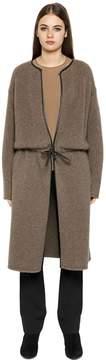 Emporio Armani Knit Fur Coat W/ Leather Details