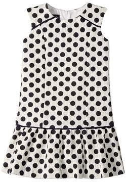 Oscar de la Renta Childrenswear Dots On Tweed Drop Waist Dress Girl's Dress