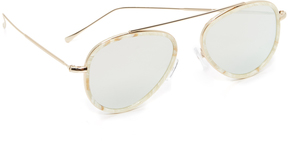 Illesteva Dorchester Ace Mirrored Sunglasses