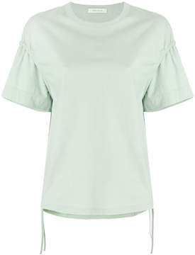 Cédric Charlier ruffle sleeve T-shirt