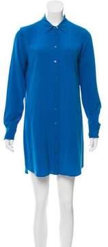 Equipment Silk Geometric Shirtdress