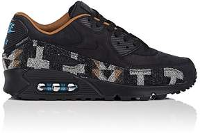 Nike NIKE MEN'S MEN'S AIR MAX 90 QS NUBUCK & WOOL SNEAKERS