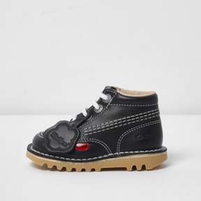 River Island Kids navy Kickers lace-up boots