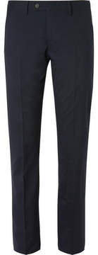 Calvin Klein Collection Hudson Striped Silk-Seersucker Trousers
