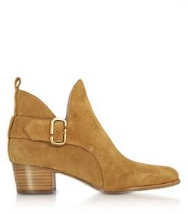 Marc Jacobs Women's Beige Suede Ankle Boots.