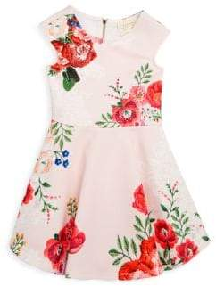 Hannah Banana Little Girl's Floral Print Skater Dress