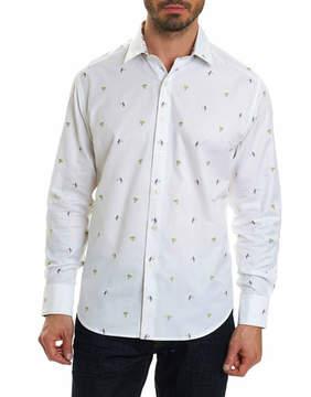 Robert Graham Palm Leaves Cotton Sport Shirt
