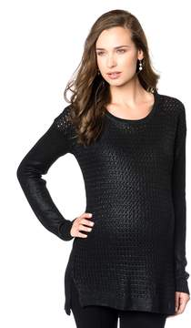 A Pea in the Pod Willow & Clay High-low Hem Maternity Sweater