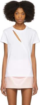 Courreges White Diagonal Cutting T-Shirt