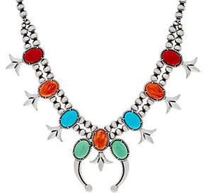 American West Sterling Silver Squash BlossomNecklace