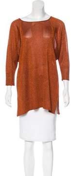 Calypso Metallic Long Sleeve Sweater