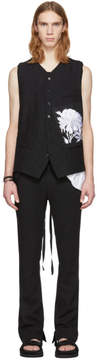 Ann Demeulemeester Black Peyton and Patch Peony Vest