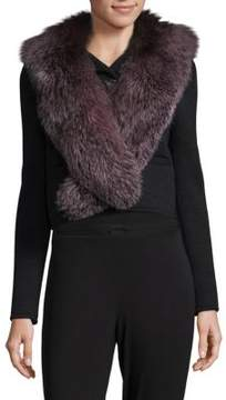 Karl Lagerfeld Dyed Fox Fur Collar