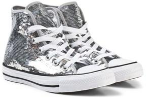Converse Silver Sequins Chuck Taylor All Star Hi Tops