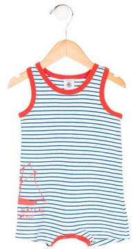 Petit Bateau Boys' Striped Sleeveless All-In-One