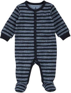 Petit Lem Black Stripe Footie - Newborn & Infant
