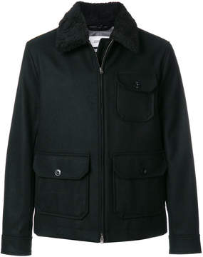 Closed cargo pocket coat