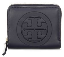 Tory Burch Charlie Mini Leather Bi-Fold Wallet - TORY NAVY - STYLE
