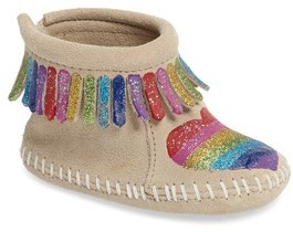 Minnetonka Infant Girl's X Free Range Mama Love One Another Bootie