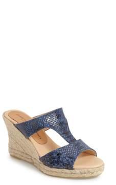 Patricia Green Snake Embossed Wedge Sandal