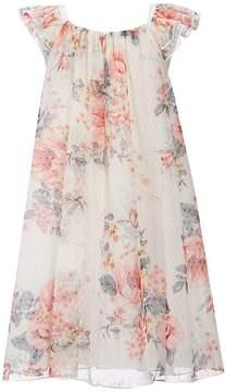 Bonnie Jean Little Girls 2T-6X Flutter-Sleeve Floral Shift Dress