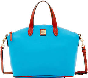 Dooney & Bourke Pebble Grain Satchel - AEGEAN BLUE - STYLE