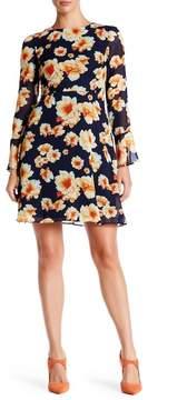 Betsey Johnson Printed Chiffon Dress