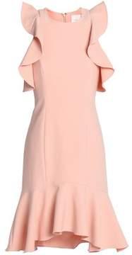 Cinq à Sept Micah Cold-Shoulder Ruffle-Trimmed Cady Dress